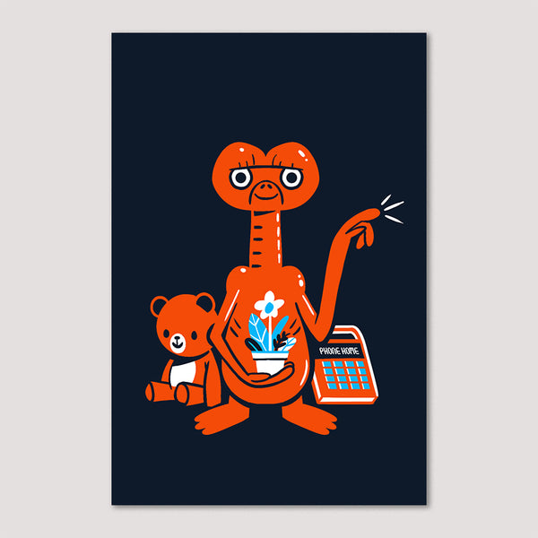 Mini Print (Screenprint): ET