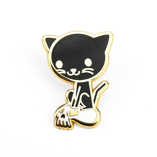 Pin: Cat and Skull