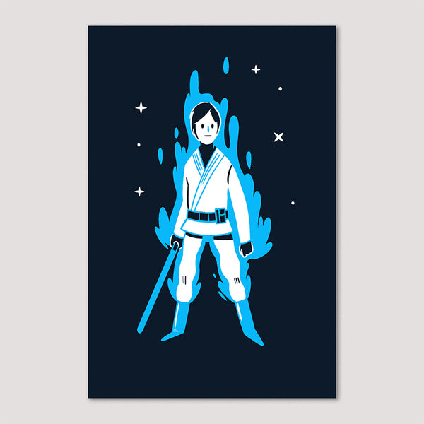 Mini Print (Screenprint): Luke Skywalker