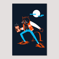 Mini Print (Screenprint): Thriller
