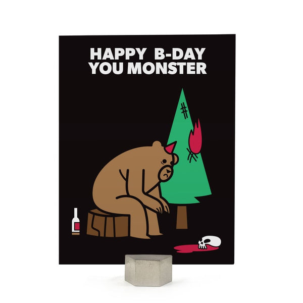 Birthday: Monster Card
