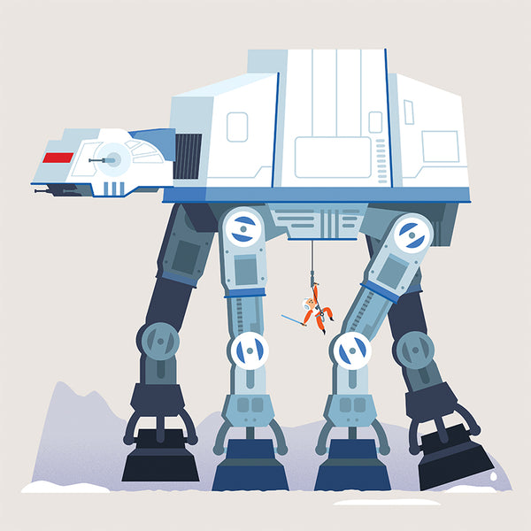 Art Print: AT-AT Attack