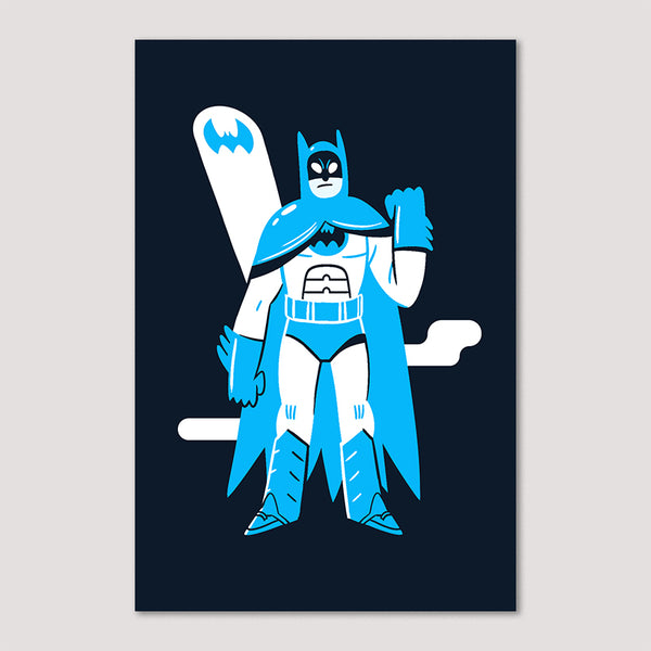 Mini Print (Screenprint): Batman