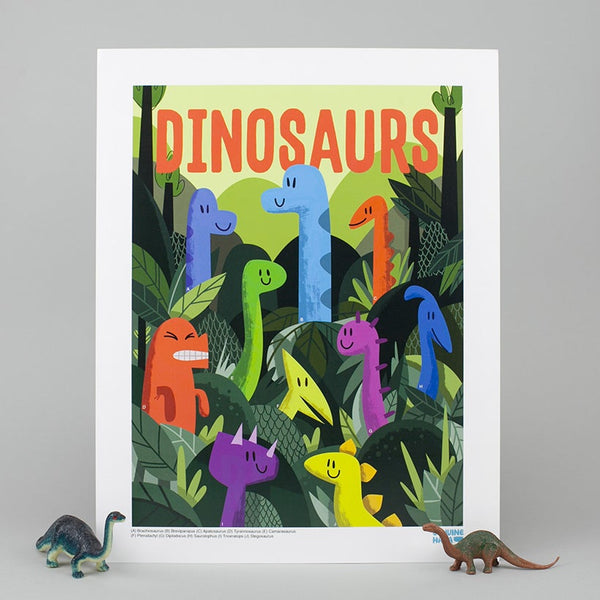 Art Print (Blacklight): Dinosaurs are Dead