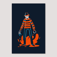 Mini Print (Screenprint): Freddy Krueger