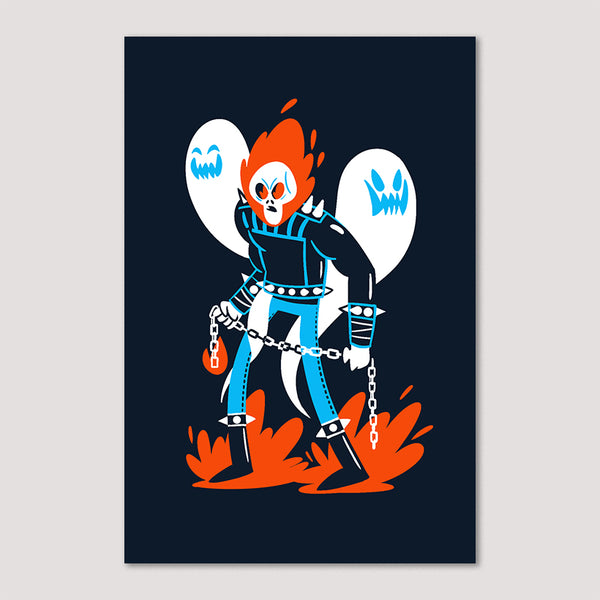 Mini Print (Screenprint): Ghost Rider