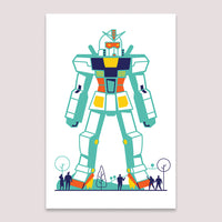 Mini Print (Screenprint): Gundam