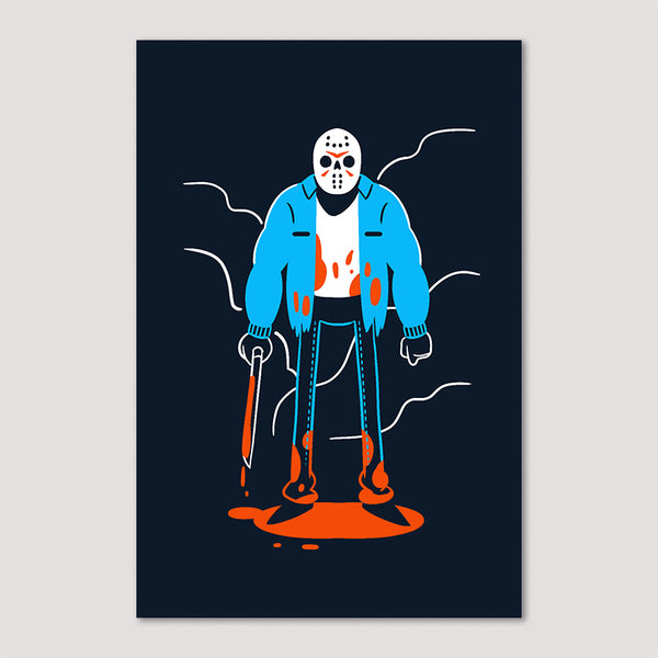 Mini Print (Screenprint): Jason Voorhes