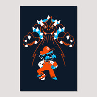 Mini Print (Screenprint): Super Mario