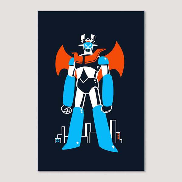 Mini Print (Screenprint): Mazinger