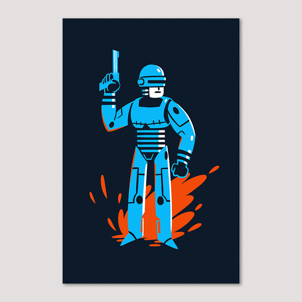 Mini Print (Screenprint): Robocop