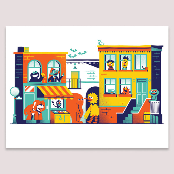 Art Print (Screenprint): Sesame Street