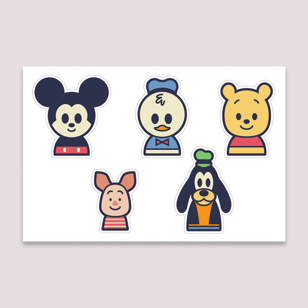 Sticker Set: Mickey and Friends