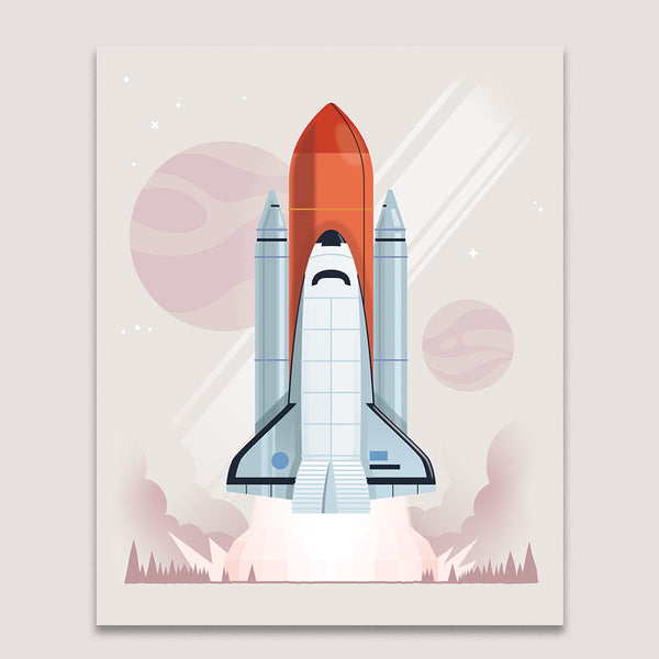 Art Print: NASA Shuttle