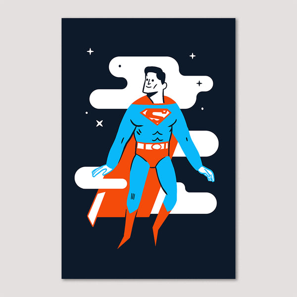 Mini Print (Screenprint): Superman