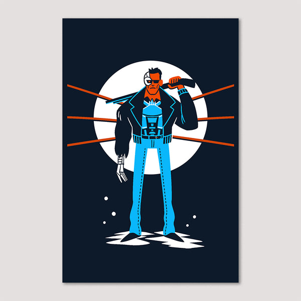Mini Print (Screenprint): Terminator T-800