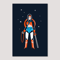 Mini Print (Screenprint): Wonder Woman