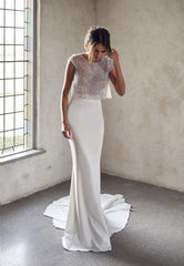 Anna Campbell 2 piece wedding outfit