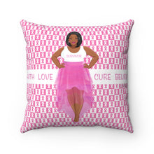 Load image into Gallery viewer, Faith Love Hope Cure Believe Square Throw Pillow