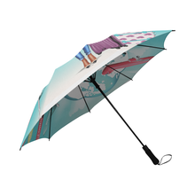 Load image into Gallery viewer, Lady Traveling the World Umbrella