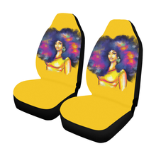 Load image into Gallery viewer, Yellow Afro Lady Car Seat Covers