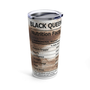 Brown Sugar - Black Nutrition Facts 20oz Stainless Steel Travel Tumbler
