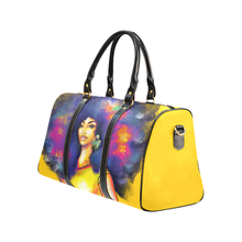 Load image into Gallery viewer, Yellow Afro Lady Weekender Travel Bag