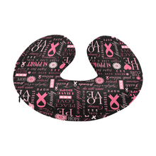 Load image into Gallery viewer, Breast Cancer Survivor/Supporter Travel Neck Pillow