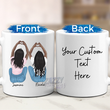 Load image into Gallery viewer, Best Friend - Hands in Hearts - Mug