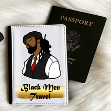 Load image into Gallery viewer, Black Men Travel (Dreadlocks) Passport Cover and Luggage Tag