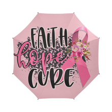 Load image into Gallery viewer, Faith Hope Cure Breast Cancer Umbrella