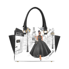 Load image into Gallery viewer, Lady in Paris (Black) Rivet Shoulder Handbag