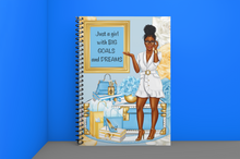 Load image into Gallery viewer, Just a Girl Spiral Notebook