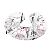 Load image into Gallery viewer, Lady in Paris (Pink) Travel Neck Pillow