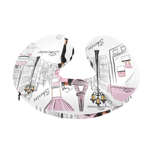 Lady in Paris (Pink) Travel Neck Pillow