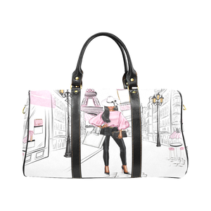 Lady in Pink Paris Weekender Travel Bag