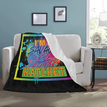 Load image into Gallery viewer, I'm A Savage Fleece Throw Blanket