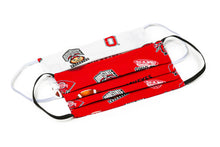 Load image into Gallery viewer, Ohio State OSU Big 10 football handmade cloth face masks by Joyful Gnomes