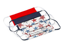 Load image into Gallery viewer, Stars and Stripes Patriotic Handmade Cloth Face Masks by Joyful Gnomes
