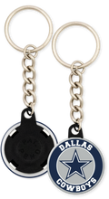 Load image into Gallery viewer, Dallas Cowboys NFL Football Button Keychain