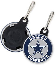 Load image into Gallery viewer, Dallas Cowboys NFL Football Button Zipper Pull