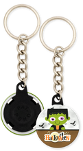 Load image into Gallery viewer, Frankenstein Halloween Button Keychain