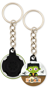 Frankenstein Halloween Button Keychain