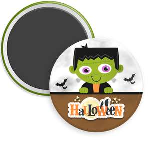 Frankenstein Halloween Button Magnet