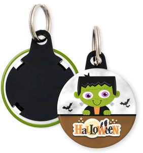 Frankenstein Halloween Button Keyring
