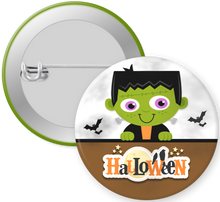 Load image into Gallery viewer, Frankenstein Halloween Button Pin