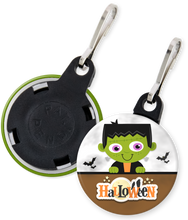 Load image into Gallery viewer, Frankenstein Halloween Button Zipper Pull