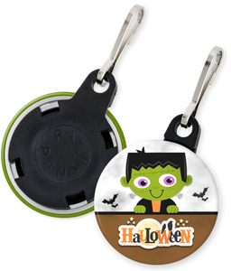 Frankenstein Halloween Button Zipper Pull