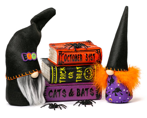 Scary Halloween Neon Witch Gnomes by Joyful Gnomes