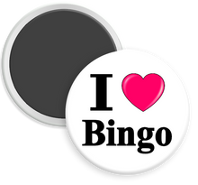 Load image into Gallery viewer, I Love Bingo Button Magnet